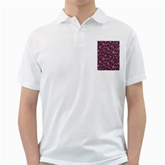 Abstract Background Floral Pattern Golf Shirts