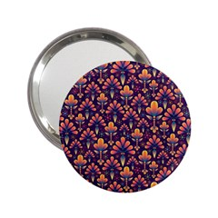 Abstract Background Floral Pattern 2.25  Handbag Mirrors