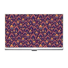 Abstract Background Floral Pattern Business Card Holders