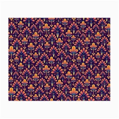 Abstract Background Floral Pattern Small Glasses Cloth