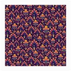 Abstract Background Floral Pattern Medium Glasses Cloth