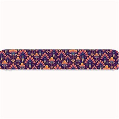 Abstract Background Floral Pattern Small Bar Mats