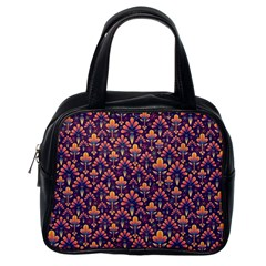 Abstract Background Floral Pattern Classic Handbags (one Side)