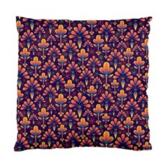 Abstract Background Floral Pattern Standard Cushion Case (One Side)