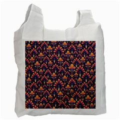 Abstract Background Floral Pattern Recycle Bag (Two Side)