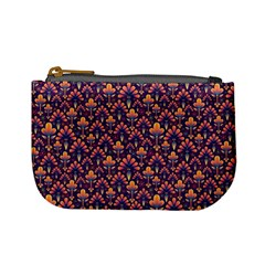 Abstract Background Floral Pattern Mini Coin Purses