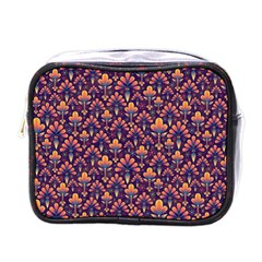 Abstract Background Floral Pattern Mini Toiletries Bags