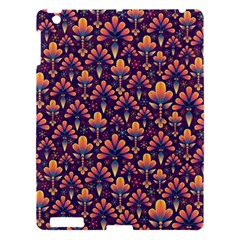 Abstract Background Floral Pattern Apple iPad 3/4 Hardshell Case