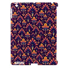 Abstract Background Floral Pattern Apple iPad 3/4 Hardshell Case (Compatible with Smart Cover)