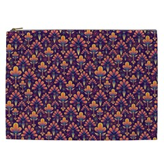 Abstract Background Floral Pattern Cosmetic Bag (XXL)