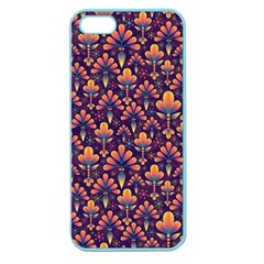 Abstract Background Floral Pattern Apple Seamless iPhone 5 Case (Color)
