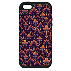 Abstract Background Floral Pattern Apple iPhone 5 Hardshell Case (PC+Silicone)