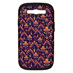 Abstract Background Floral Pattern Samsung Galaxy S III Hardshell Case (PC+Silicone)