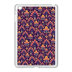 Abstract Background Floral Pattern Apple iPad Mini Case (White)