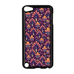 Abstract Background Floral Pattern Apple Ipod Touch 5 Case (black)
