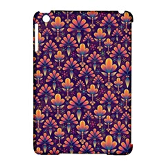 Abstract Background Floral Pattern Apple iPad Mini Hardshell Case (Compatible with Smart Cover)