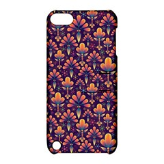 Abstract Background Floral Pattern Apple Ipod Touch 5 Hardshell Case With Stand