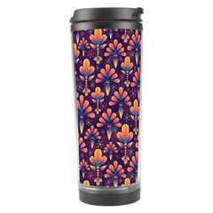 Abstract Background Floral Pattern Travel Tumbler