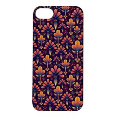 Abstract Background Floral Pattern Apple iPhone 5S/ SE Hardshell Case