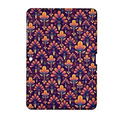 Abstract Background Floral Pattern Samsung Galaxy Tab 2 (10.1 ) P5100 Hardshell Case