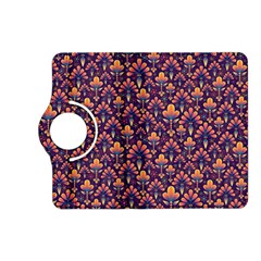 Abstract Background Floral Pattern Kindle Fire Hd (2013) Flip 360 Case