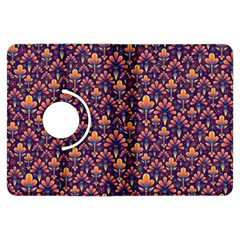 Abstract Background Floral Pattern Kindle Fire HDX Flip 360 Case