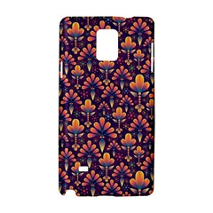 Abstract Background Floral Pattern Samsung Galaxy Note 4 Hardshell Case