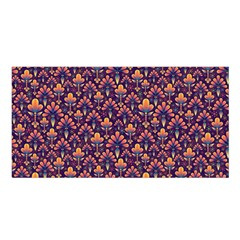 Abstract Background Floral Pattern Satin Shawl