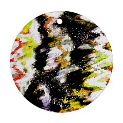 Canvas Acrylic Digital Design Ornament (round)