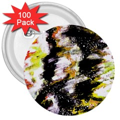 Canvas Acrylic Digital Design 3  Buttons (100 pack)