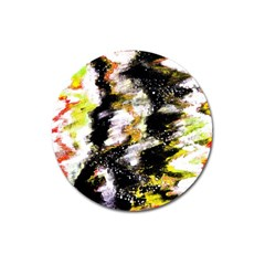 Canvas Acrylic Digital Design Magnet 3  (round)