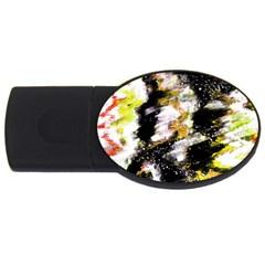 Canvas Acrylic Digital Design USB Flash Drive Oval (1 GB)