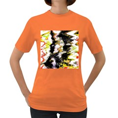Canvas Acrylic Digital Design Women s Dark T-Shirt