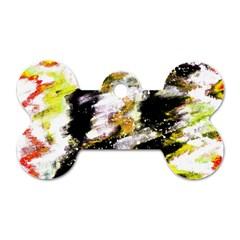 Canvas Acrylic Digital Design Dog Tag Bone (Two Sides)