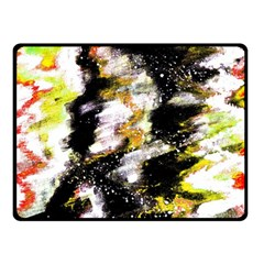 Canvas Acrylic Digital Design Double Sided Fleece Blanket (Small)