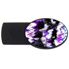 Canvas Acrylic Digital Design USB Flash Drive Oval (4 GB)