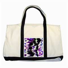 Canvas Acrylic Digital Design Two Tone Tote Bag