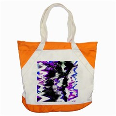 Canvas Acrylic Digital Design Accent Tote Bag
