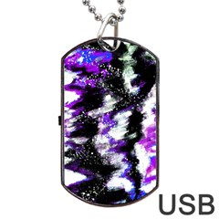 Canvas Acrylic Digital Design Dog Tag USB Flash (One Side)