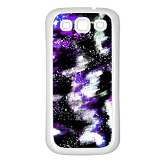 Canvas Acrylic Digital Design Samsung Galaxy S3 Back Case (White)