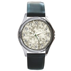Wall Rock Pattern Structure Dirty Round Metal Watch