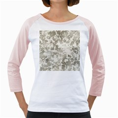 Wall Rock Pattern Structure Dirty Girly Raglans