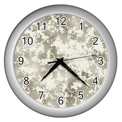Wall Rock Pattern Structure Dirty Wall Clocks (silver)