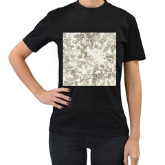 Wall Rock Pattern Structure Dirty Women s T-Shirt (Black) (Two Sided)