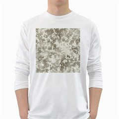 Wall Rock Pattern Structure Dirty White Long Sleeve T Shirts