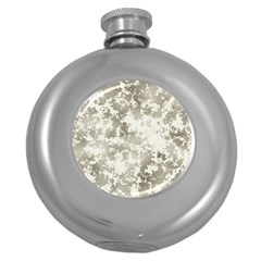 Wall Rock Pattern Structure Dirty Round Hip Flask (5 oz)