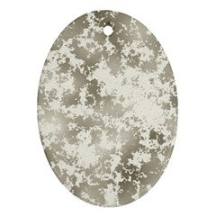 Wall Rock Pattern Structure Dirty Oval Ornament (Two Sides)