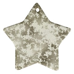 Wall Rock Pattern Structure Dirty Star Ornament (two Sides)
