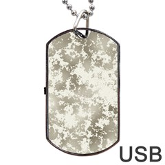 Wall Rock Pattern Structure Dirty Dog Tag USB Flash (One Side)