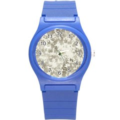 Wall Rock Pattern Structure Dirty Round Plastic Sport Watch (S)